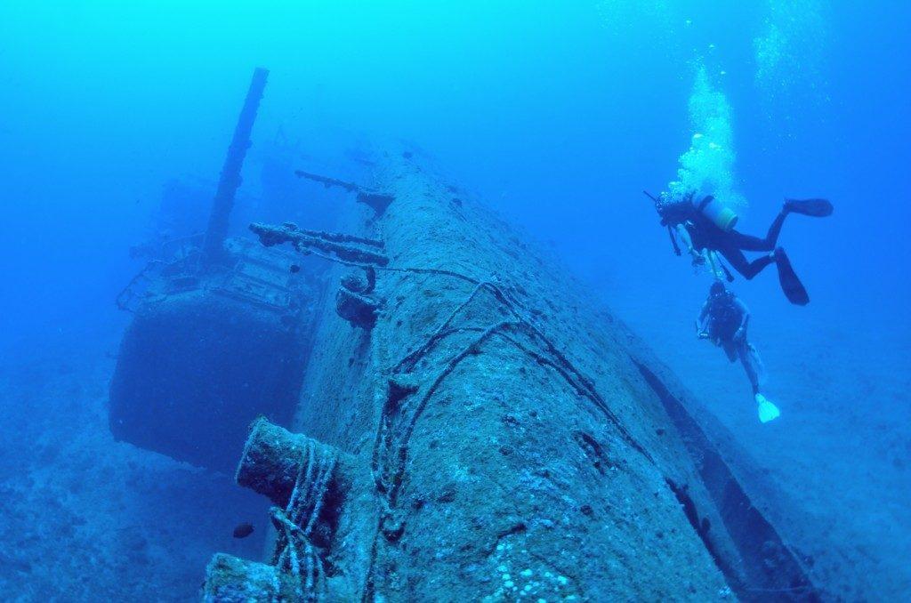 沈没船 USSエモンズ 船首1