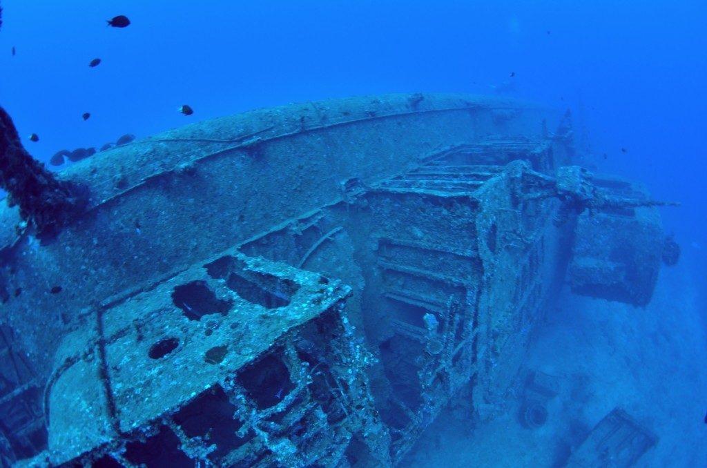 沈没船 USSエモンズ 船首3