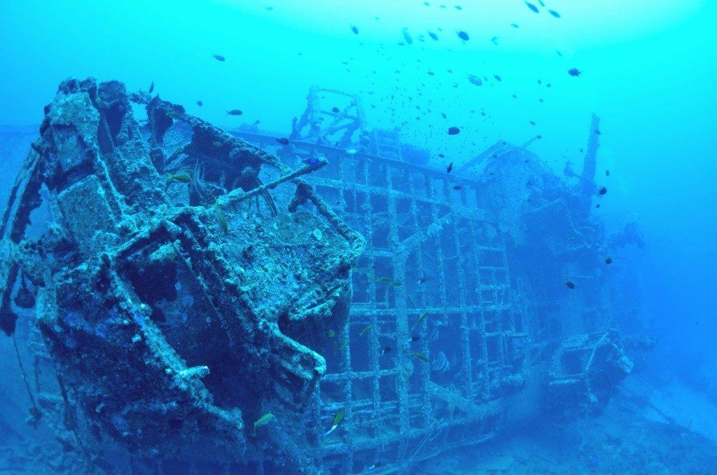 沈没船 USSエモンズ 船尾2