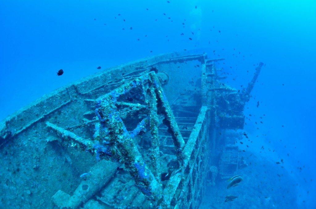 沈没船 USSエモンズ 船尾3