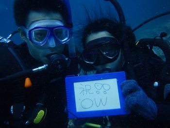 沖縄青の洞窟でOW取得