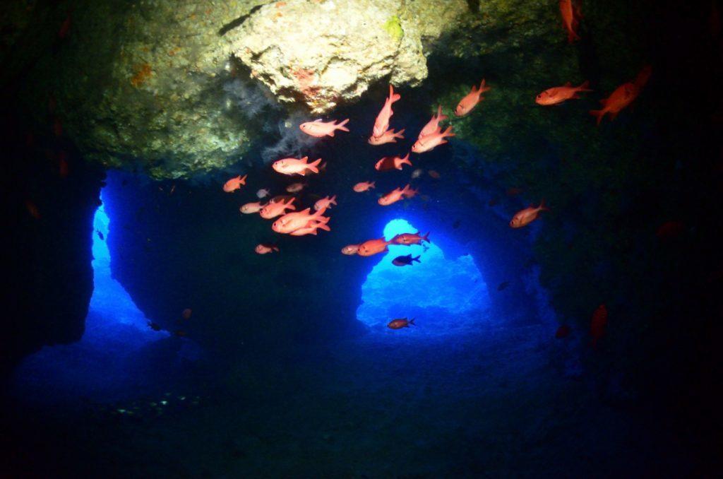 伊江島 オホバ大洞窟の出口