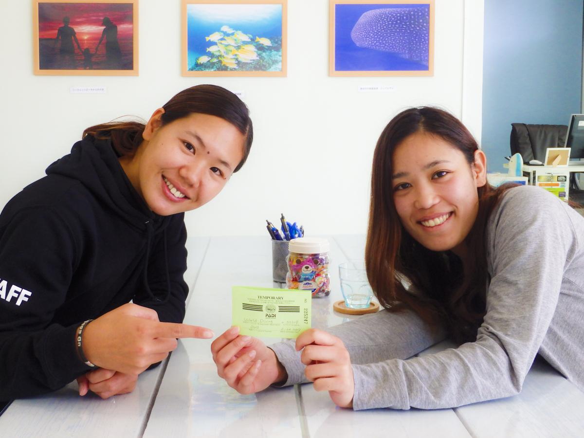 一人旅・女性 沖縄ダイビングライセンス