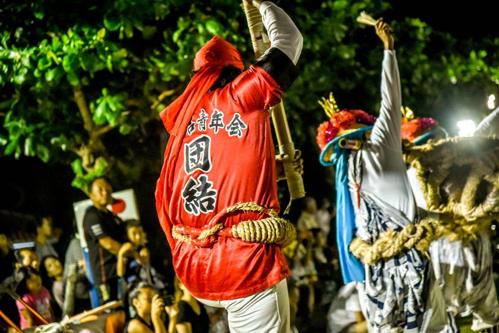 真栄田岬 エイサー祭り