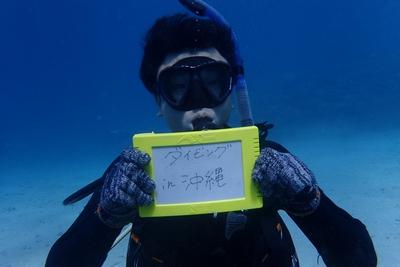 沖縄の北部のゴリラチョップで体験ダイビング