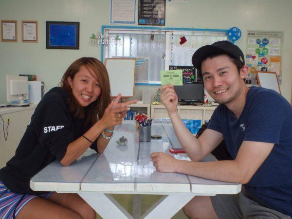 一人旅で沖縄の海でダイビングライセンス取得!