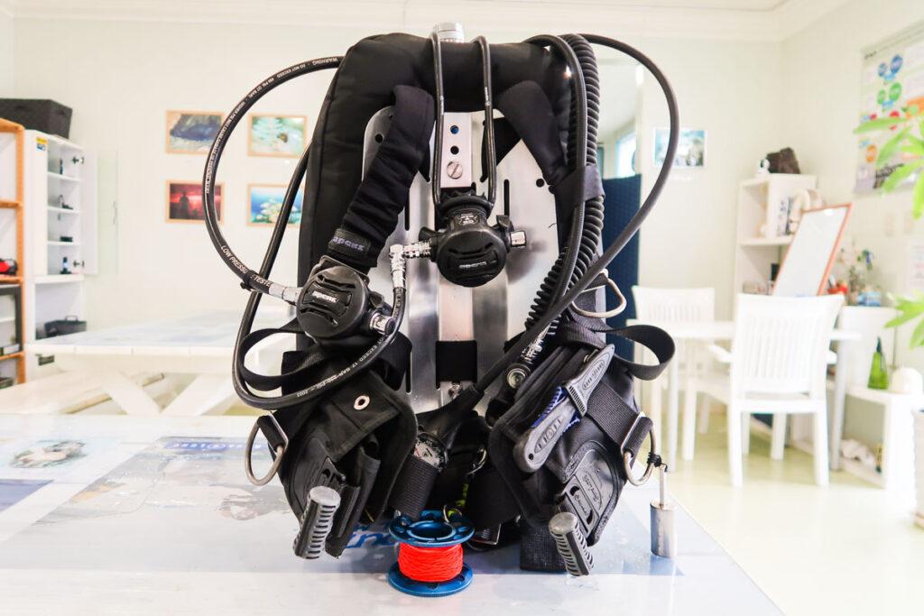 ダイビング器材の正しい揃え方と順序