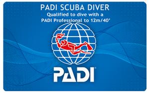 PADIスクーバダイバー 最短1日間+事前学習コース