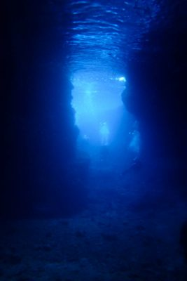 青の洞窟で体験ダイビング!