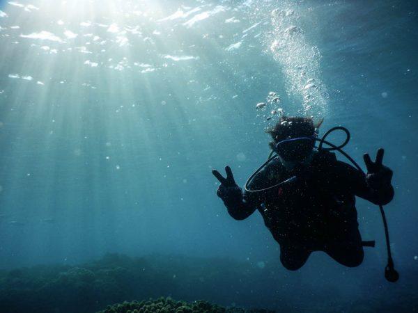 地元 沖縄の青い海で、アドバンス ゲット!