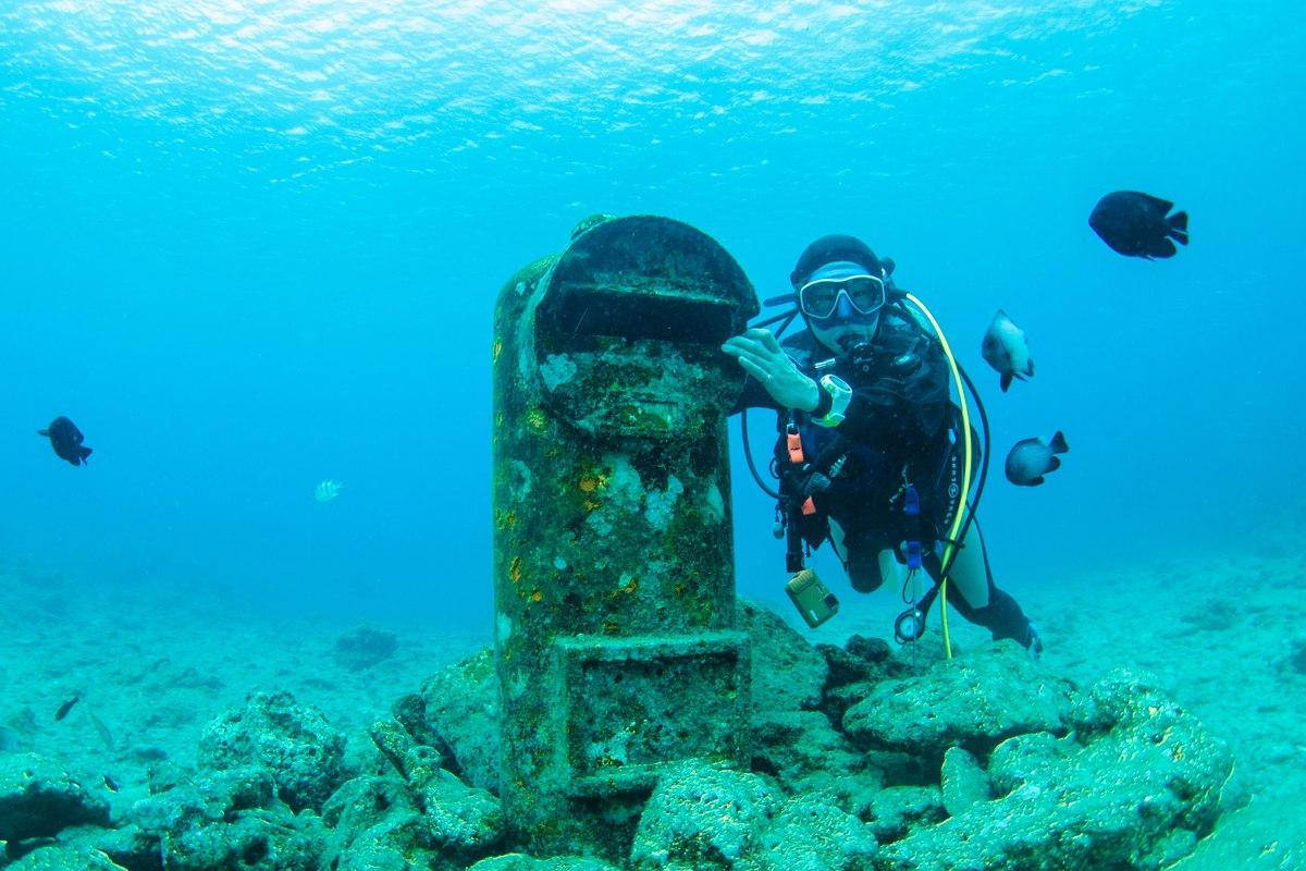 砂辺の海底ポスト