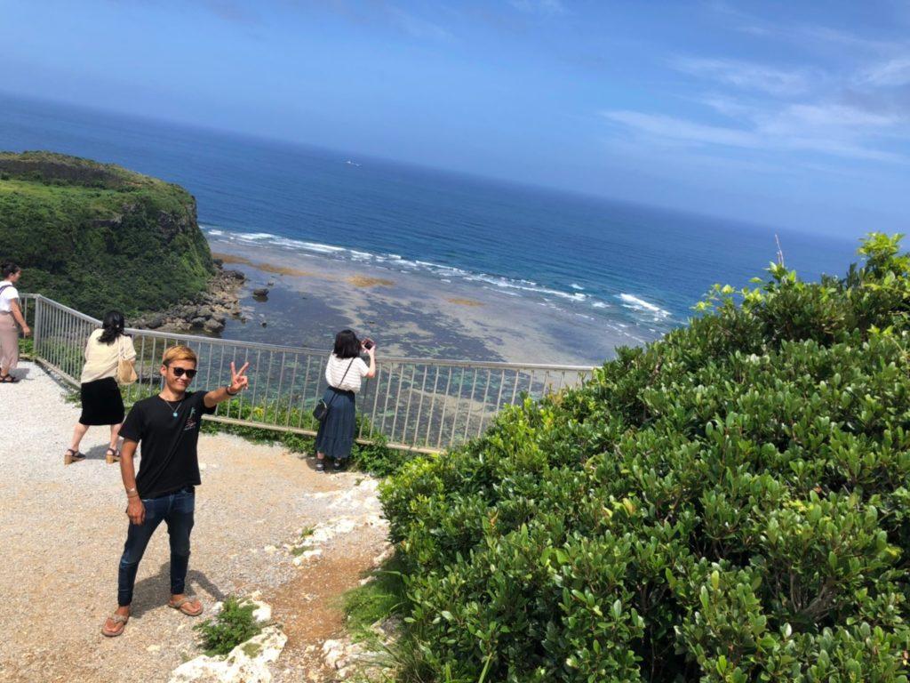 沖縄屈指の絶景スポット【果報バンタ】