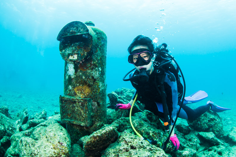 沖縄本島周辺 ファンダイビング/砂辺の海底ポスト