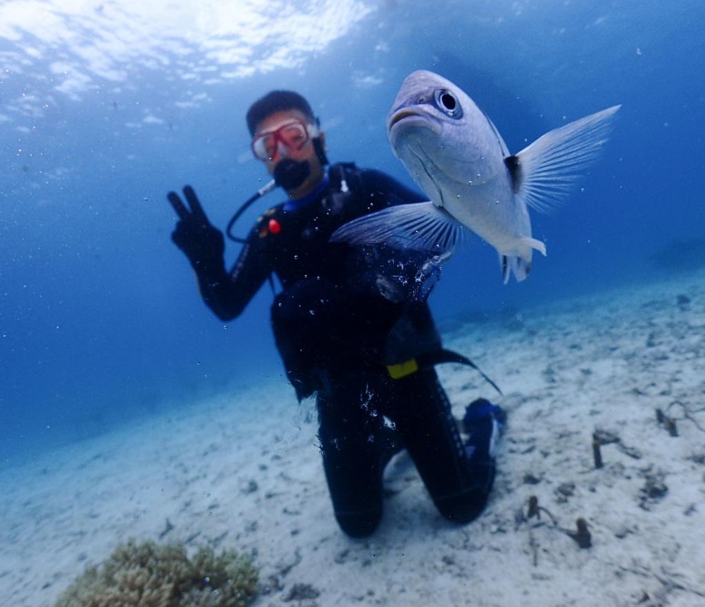 沖縄体験ダイビング・山田ポイント☆お魚天国٩(ˊᗜˋ*)و