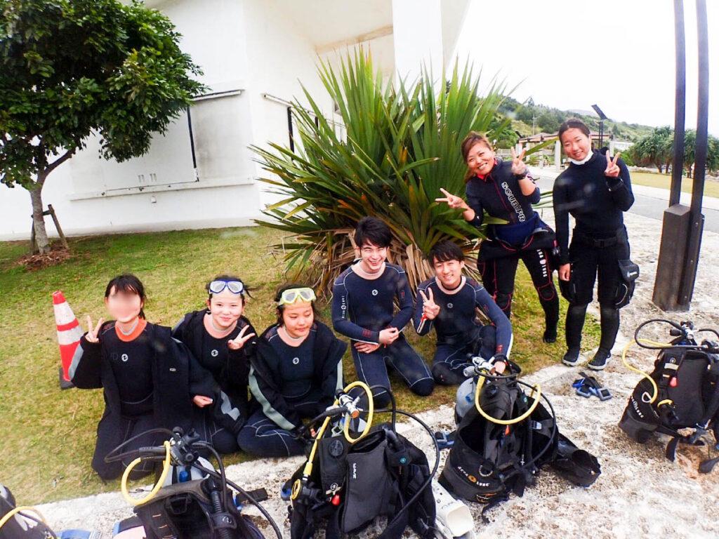 体験ダイビング☆卒業旅行で沖縄ゴリラチョップ~(*´▽`*)