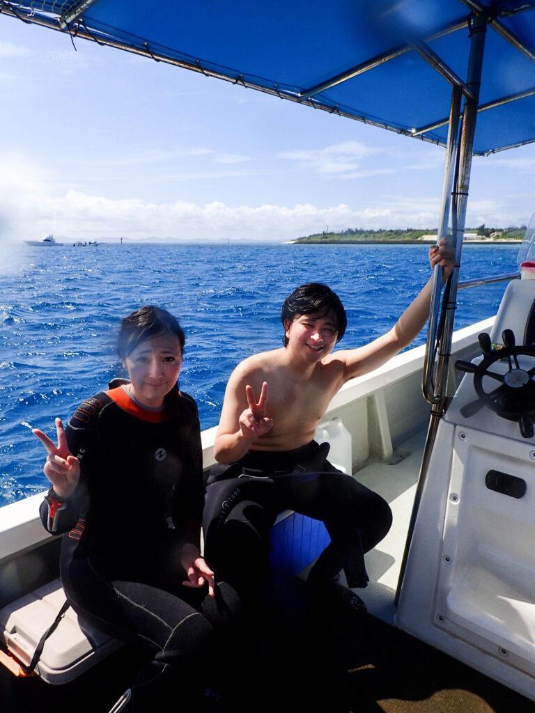 水納島体験ダイビング(*´▽`*)水納島ブルー!!沖縄