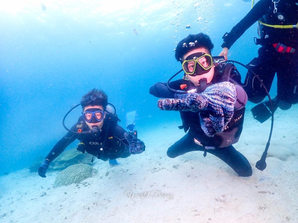 沖縄 恩納村・山田ポイントで体験ダイビング